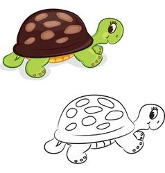 Cartoon turtle vector image vector image