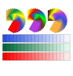 color palettes vector image vector image