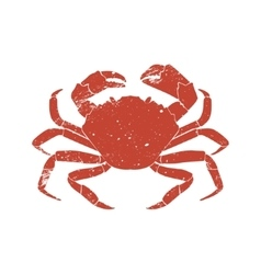 Crab grunge silhouette isolated on white vector