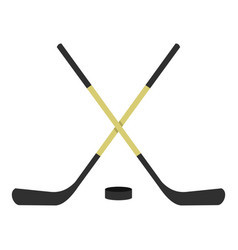 crossed hockey sticks icon isolated vector image