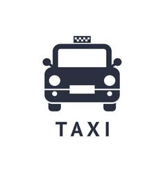 digital black travel taxi vector image