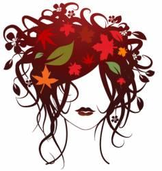 fashion girl autumn vector image