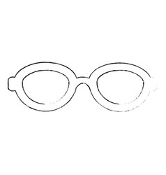 fashion glasses isolated vector image vector image