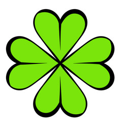 four leaf clover icon icon cartoon vector image vector image