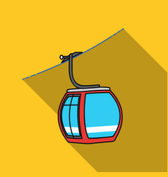 Funicular icon in flate style isolated on white vector