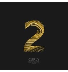Golden number 2 vector