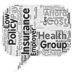 How to obtain low cost health insurance text vector