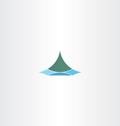 Iceland logo sign mountain vector