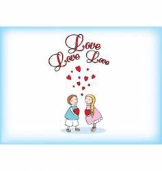 love love vector image