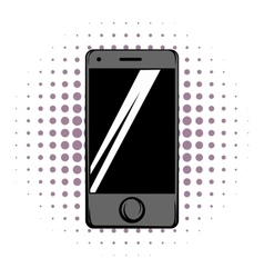 Modern smartphone comics icon vector