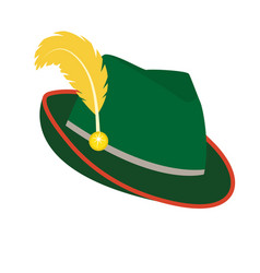 Oktoberfest hat icon flat style isolated on white vector