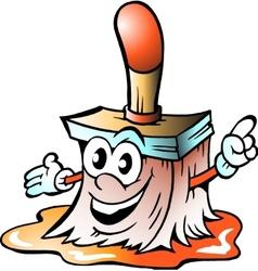 Paintbrush tool mascot vector