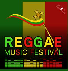 Reggae music festival poster vector