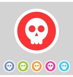 Skull flat icon vector image