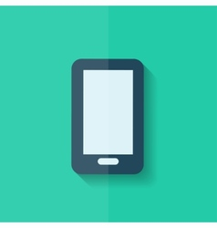 Smartphone Icon Mobile phone Flat design vector image vector image