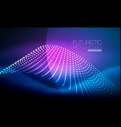 smooth neon wave vector image