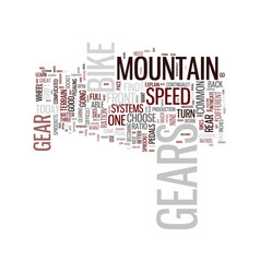 The intricacies of mountain bike gears text vector