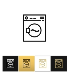 Washing machine sign or laundry rotating washer vector