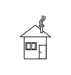 winter house icon vector image vector image