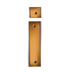 wooden type i vector image vector image