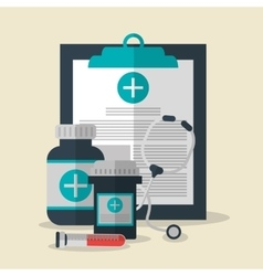 Medical history health care icon vector