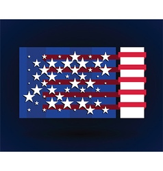 american flag style vector image