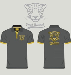 Collared Shirt Design Template vector image