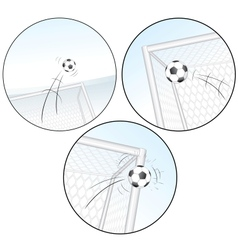 Scoring a goal football images vector