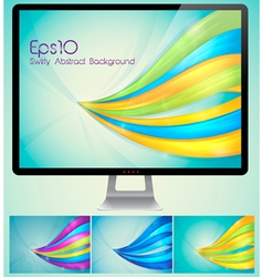 Swirly abstract background vector