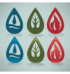 nature emblems vector image