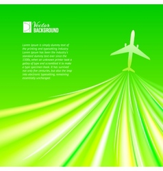 airplane around the green vector image