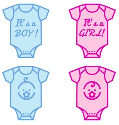 baby boy and girl vector image