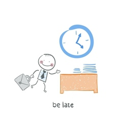 Be late cartoon vector image