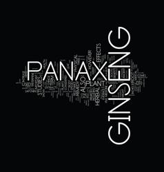 Ginseng panax text background word cloud concept vector