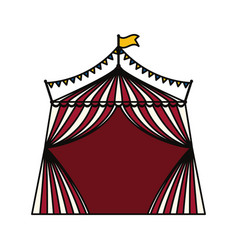Circus striped tent vector