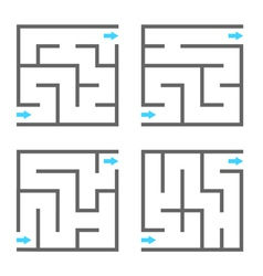 Set of mazes vector