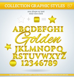 Golden graphic styles for design use for decor vector