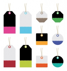 Bright tags vector