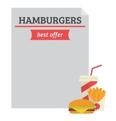 Hamburger best offer template vector