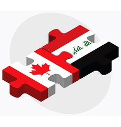 Canada and iraq flags vector