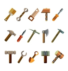 Building instrument icons set vector