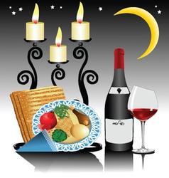evening dinner vector image