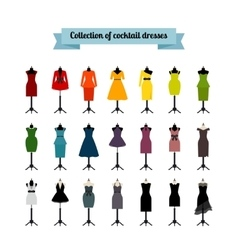 Summer or cocktail party dresses vector