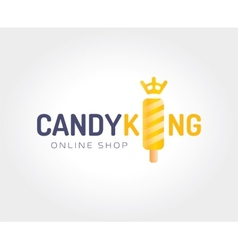 Abstract candy king logo template for branding and vector