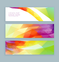 Abstract colorful banners set vector