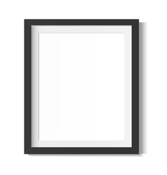 Black frame on a white background frame vector