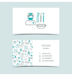 Business cards for dental clinic Promotional vector image vector image