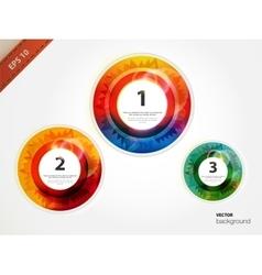 Circle blocks Product choice or versions vector image vector image