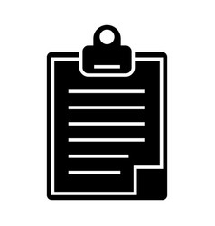 clipboard icon black sign on vector image vector image