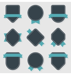 collection of labels vector image vector image